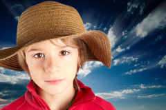 Bambino sereno Fotografia Stock Libera da Diritti