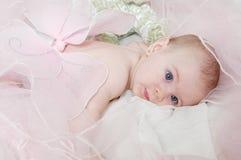 Bambino sonnolento di angelo Fotografia Stock Libera da Diritti