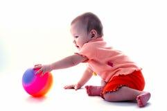 Bambino sopra bianco Fotografie Stock