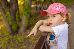 Bambino in sosta Immagine Stock