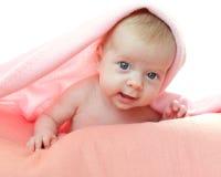 Bambino sotto la coperta Fotografie Stock Libere da Diritti