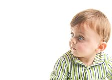 Bambino su bianco Immagine Stock Libera da Diritti