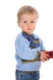 Bambino su priorità bassa bianca fotografie stock libere da diritti