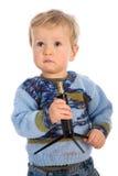 Bambino su priorità bassa bianca immagine stock libera da diritti