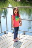 Bambino sulla piattaforma Immagini Stock