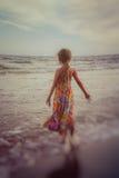 Bambino sulla spiaggia Fotografia Stock