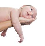 Bambino sulle mani del genitore fotografie stock