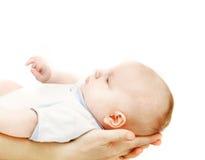 Bambino sulle mani del genitore fotografie stock libere da diritti