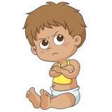 Bambino sveglio arrabbiato Fotografia Stock Libera da Diritti