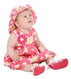 Bambino sveglio che osserva in su Immagini Stock Libere da Diritti