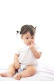 Bambino sveglio della ragazza del ritratto Fotografia Stock
