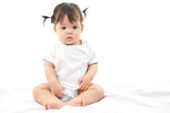 Bambino sveglio della ragazza del ritratto Fotografie Stock Libere da Diritti