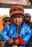 Bambino sveglio di Ladakhi al monastero antico immagini stock