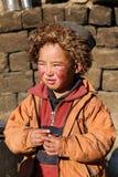 Bambino sveglio di Ladakhi al monastero antico immagine stock libera da diritti
