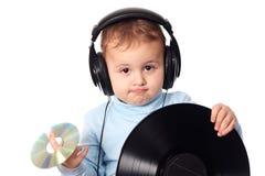 Bambino sveglio DJ fotografia stock