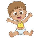 Bambino sveglio felice Fotografia Stock Libera da Diritti