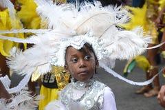 Bambino sveglio in un costume al carnevale del Notting Hill Immagine Stock