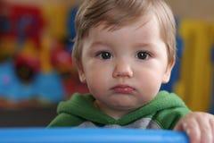 Bambino a testa tonda Fotografia Stock Libera da Diritti