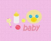 Bambino Texture_Pink Fotografie Stock
