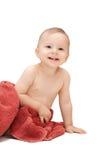 Bambino in tovagliolo Fotografie Stock Libere da Diritti