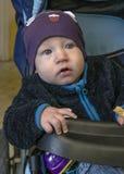 Bambino in trasporto Fotografia Stock