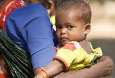 Bambino tribale indiano Immagini Stock
