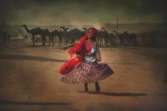 Bambino tribale indiano da Pushkar Immagine Stock Libera da Diritti