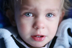 Bambino triste Fotografie Stock