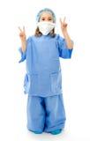 Bambino in uniforme del medico Fotografia Stock Libera da Diritti