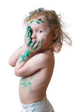 Bambino in vernice immagine stock libera da diritti