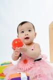 Bambino in vestito dentellare Fotografia Stock