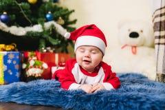 Bambino vestito in Santa Claus Immagine Stock