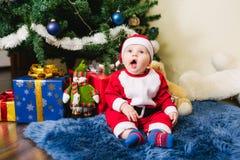 Bambino vestito in Santa Claus Fotografia Stock Libera da Diritti