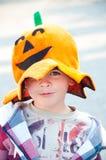 Bambino vestito in su per Halloween immagine stock libera da diritti