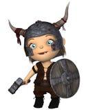 Bambino Viking di Toon illustrazione di stock