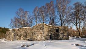 Bamble, Νορβηγία - 17 Μαρτίου 2018: Καταστροφές εκκλησιών του ST Olav ` s σε Bamble, Νορβηγία Στοκ φωτογραφία με δικαίωμα ελεύθερης χρήσης
