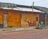 Bambo海滩小屋 库存图片