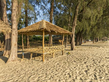 Bambo hut bar on the beach Stock Photo