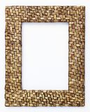 Bambo weave frame. Hand made vertical Stock Images