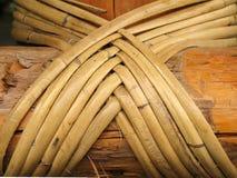Bamboe en Houten Bouw royalty-vrije stock afbeelding