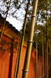 Bamboe en oude de stijlmuur van China Royalty-vrije Stock Foto