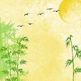 Bamboe en vogels vector illustratie