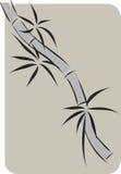 Bamboe het Chinese inkt schilderen Stock Afbeeldingen