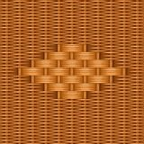 Bamboe het vakmanschap van het de textuurontwerp van het mandewerkpatroon stock illustratie