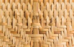 Bamboe het weven Stock Foto's