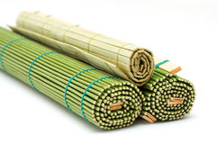 bamboe matten stock afbeelding