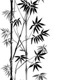Bamboe Naadloze Verticale Grens Stock Afbeelding