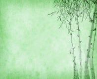 Bamboe op oude grungedocument textuur Stock Fotografie
