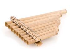 Bamboe panpipes stock afbeelding