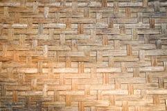 Bamboe rieten patroon Royalty-vrije Stock Foto
